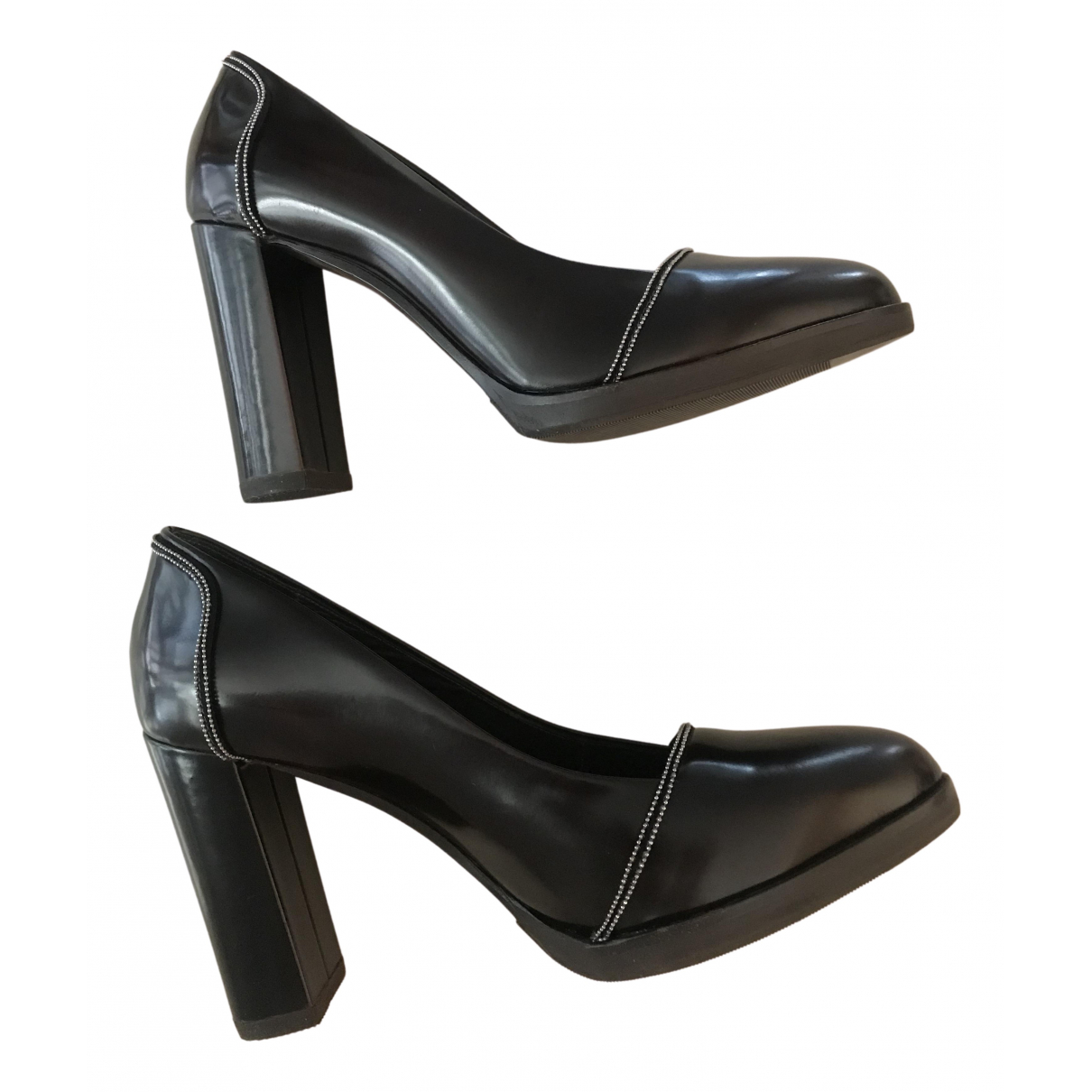 Brunello Cucinelli N Brown Leather Heels for Women 39 IT