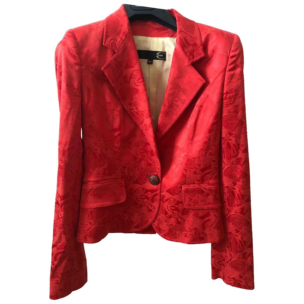Just Cavalli - Veste   pour femme en coton - rouge