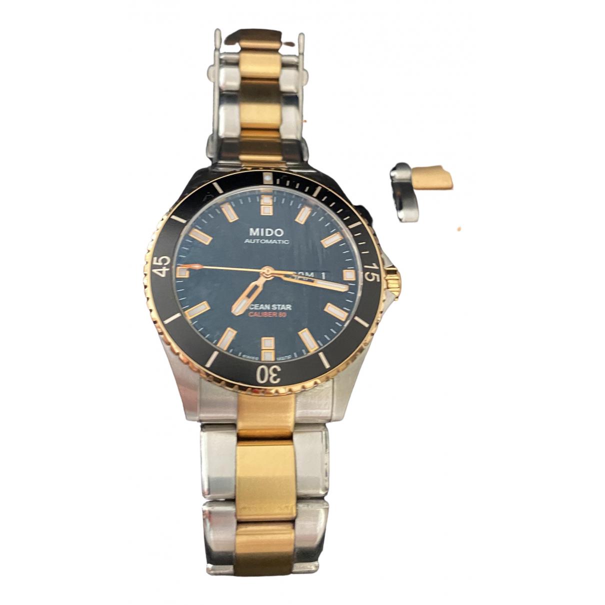 Mido \N Uhr in  Schwarz Gold und Stahl