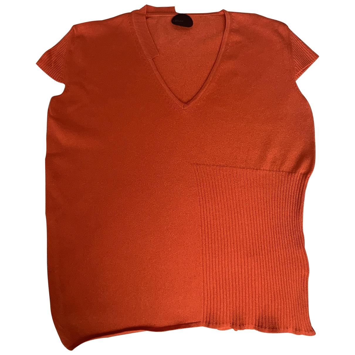 Non Signe / Unsigned \N Pullover in  Orange Viskose