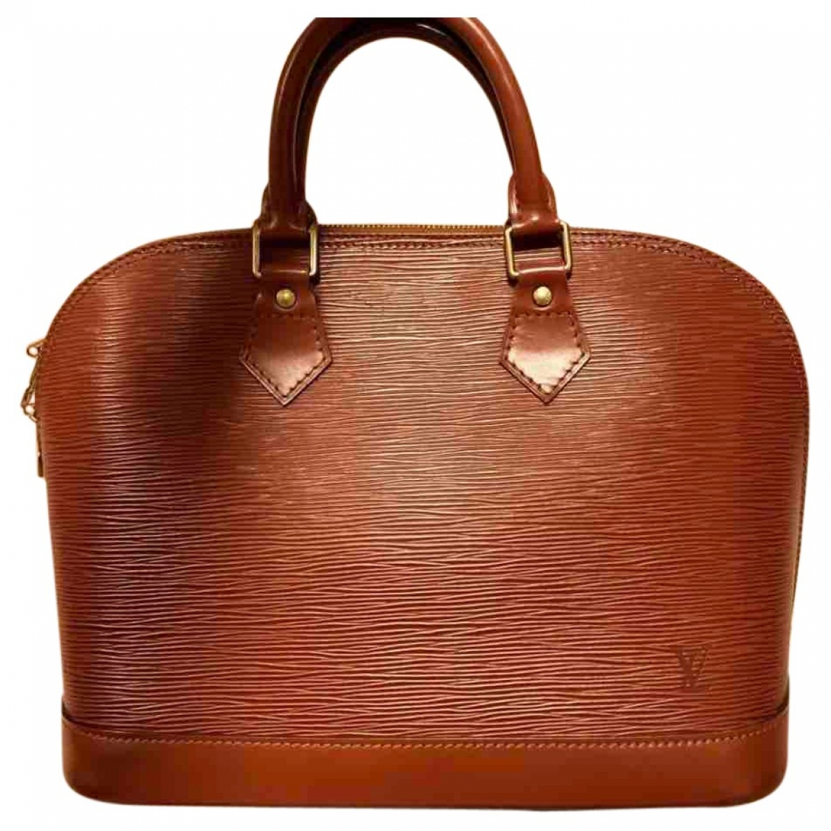 Louis Vuitton Alma Brown Leather handbag for Women \N