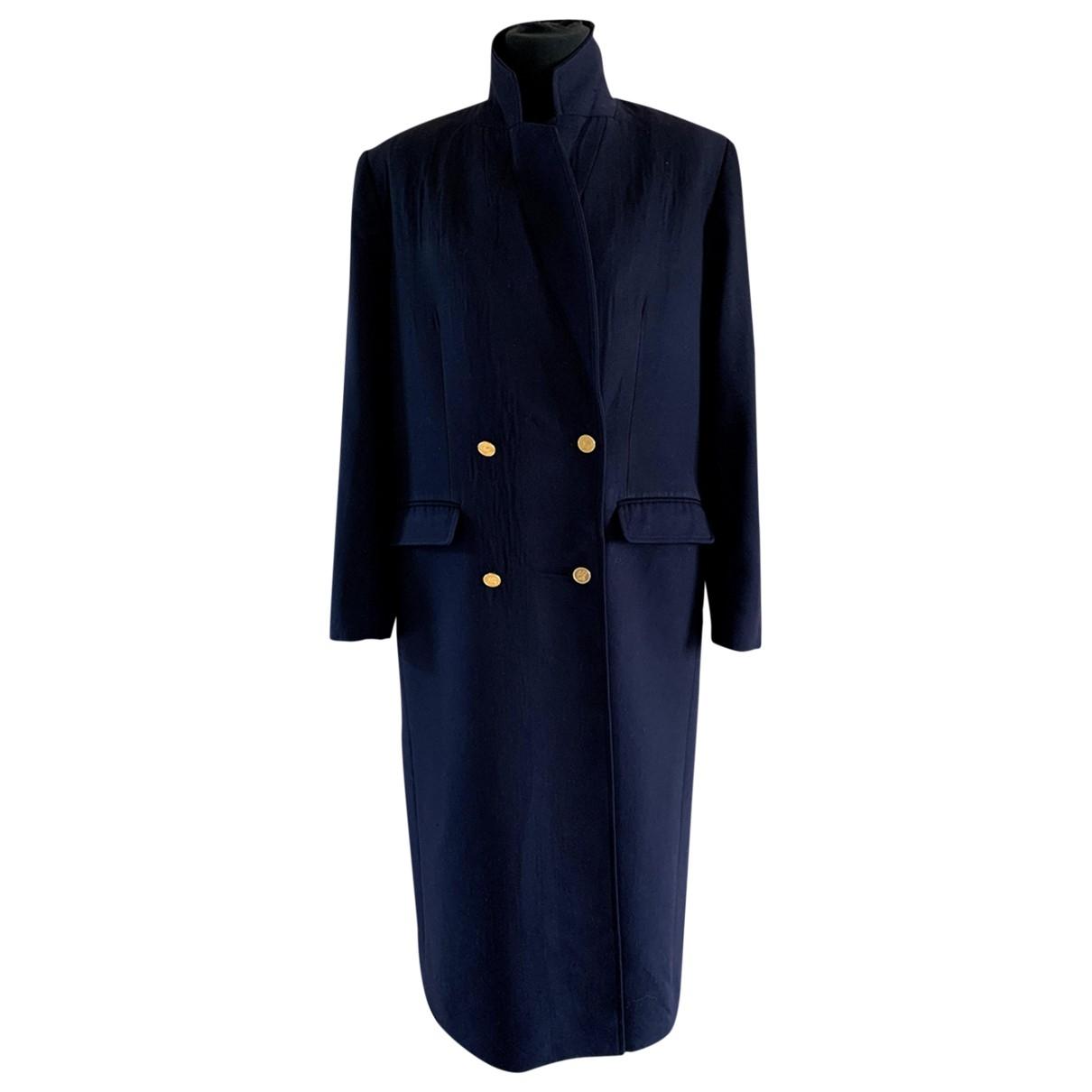 Burberry \N Navy Wool coat for Women 46 FR