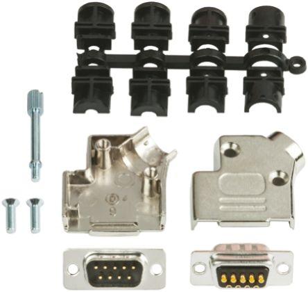MH Connectors 25 Way D-Sub Plug Connector Kit With Contact Insert, D-sub Plug Connector, Hood, UNC 4-40 Thumb Screws