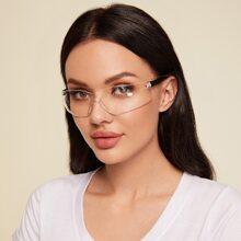 Randlose Schutzbrille mit klarem Rahmen