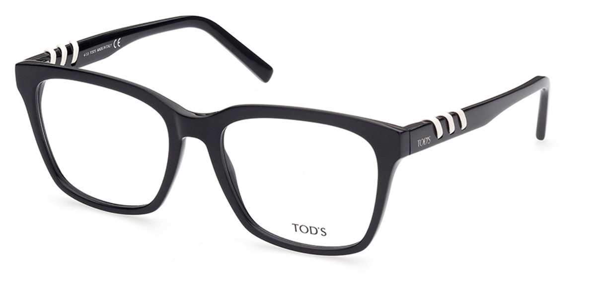TODS TO5248 001 Women's Glasses Black Size 54 - Free Lenses - HSA/FSA Insurance - Blue Light Block Available