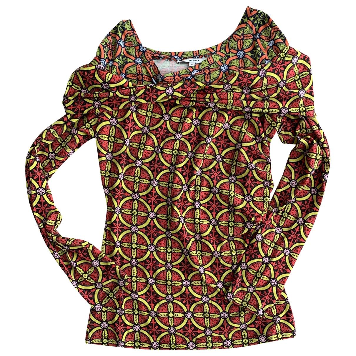 Carven - Top   pour femme en coton - multicolore