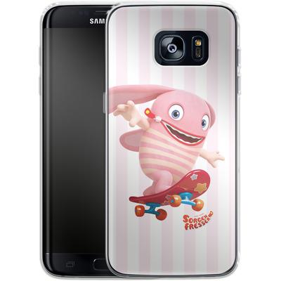 Samsung Galaxy S7 Edge Silikon Handyhuelle - Sorgenfresser Pomm von Sorgenfresser