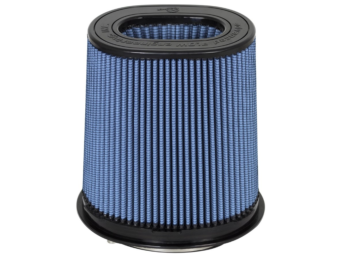 aFe Magnum FLOW Intake Replacement Air Filter w/ Pro 5R Media F-(6.75 x 4.75) X B- (8.25 x 6.25) X T-(7.25 x 5) (Inverted) X H-7-3/4 in