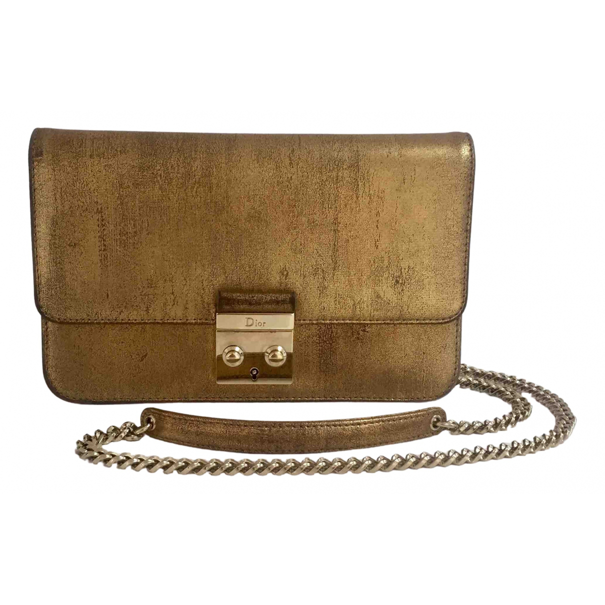 Dior Miss Dior Clutch in  Gold Leder