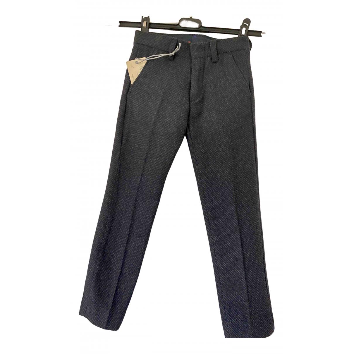 Pantalones en Algodon Azul Non Signe / Unsigned