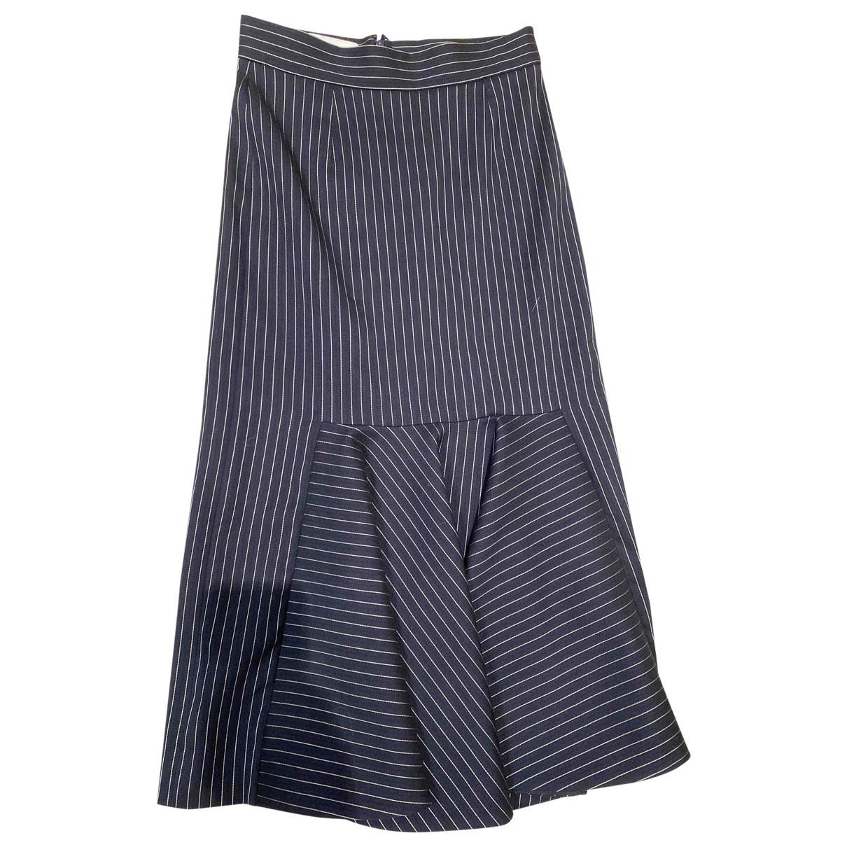 Stella Mccartney - Jupe   pour femme en laine - bleu