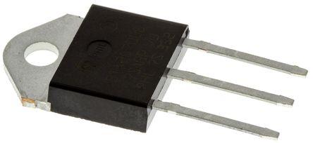 STMicroelectronics BTA26-600BWRG 25A, 600V, TRIAC, Gate Trigger 1.3V 50mA, 3-pin, Through Hole, TOP3 (5)