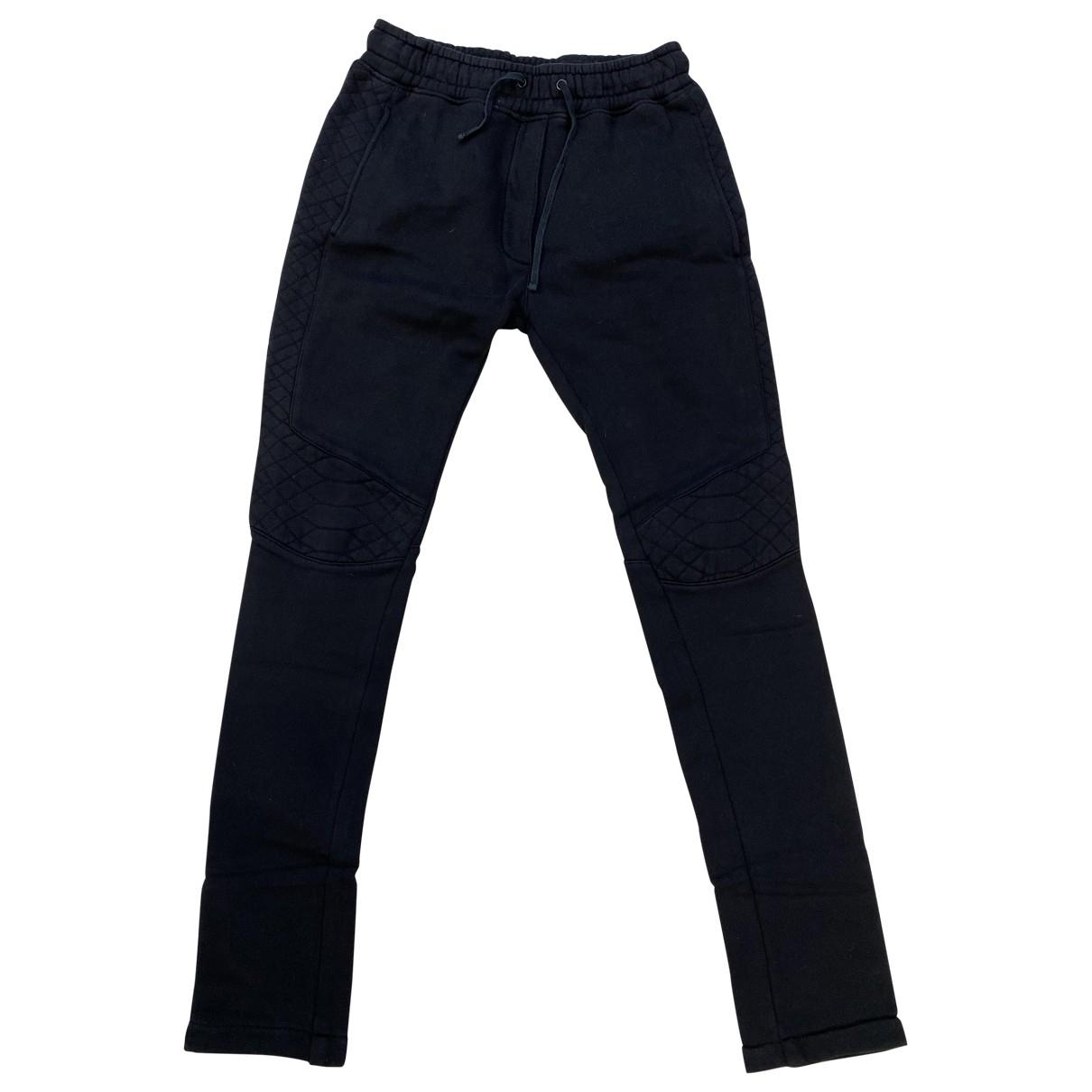 Balmain \N Black Cotton Trousers for Men S International