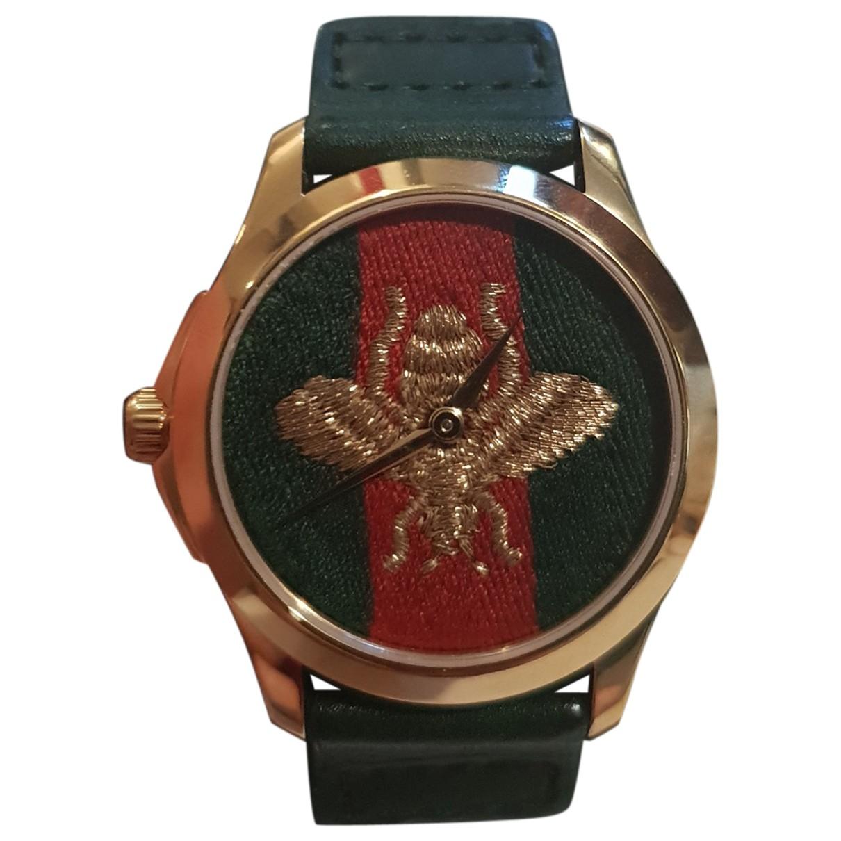 Gucci Le Marche des Merveilles Uhr in  Gruen Stahl