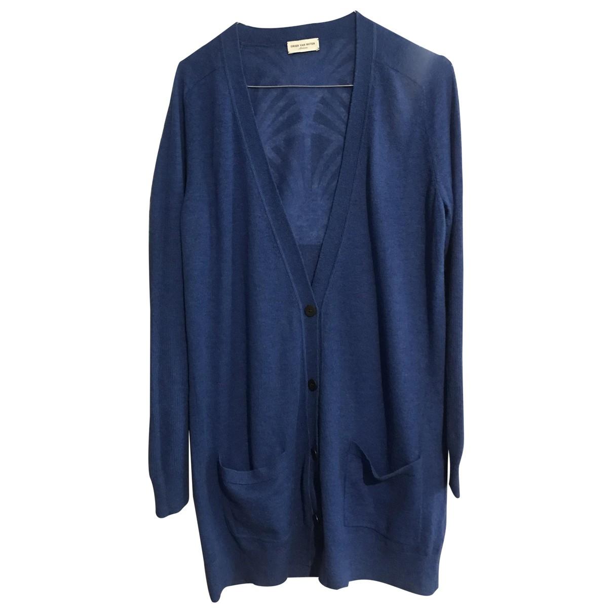 Dries Van Noten \N Pullover in  Blau Wolle