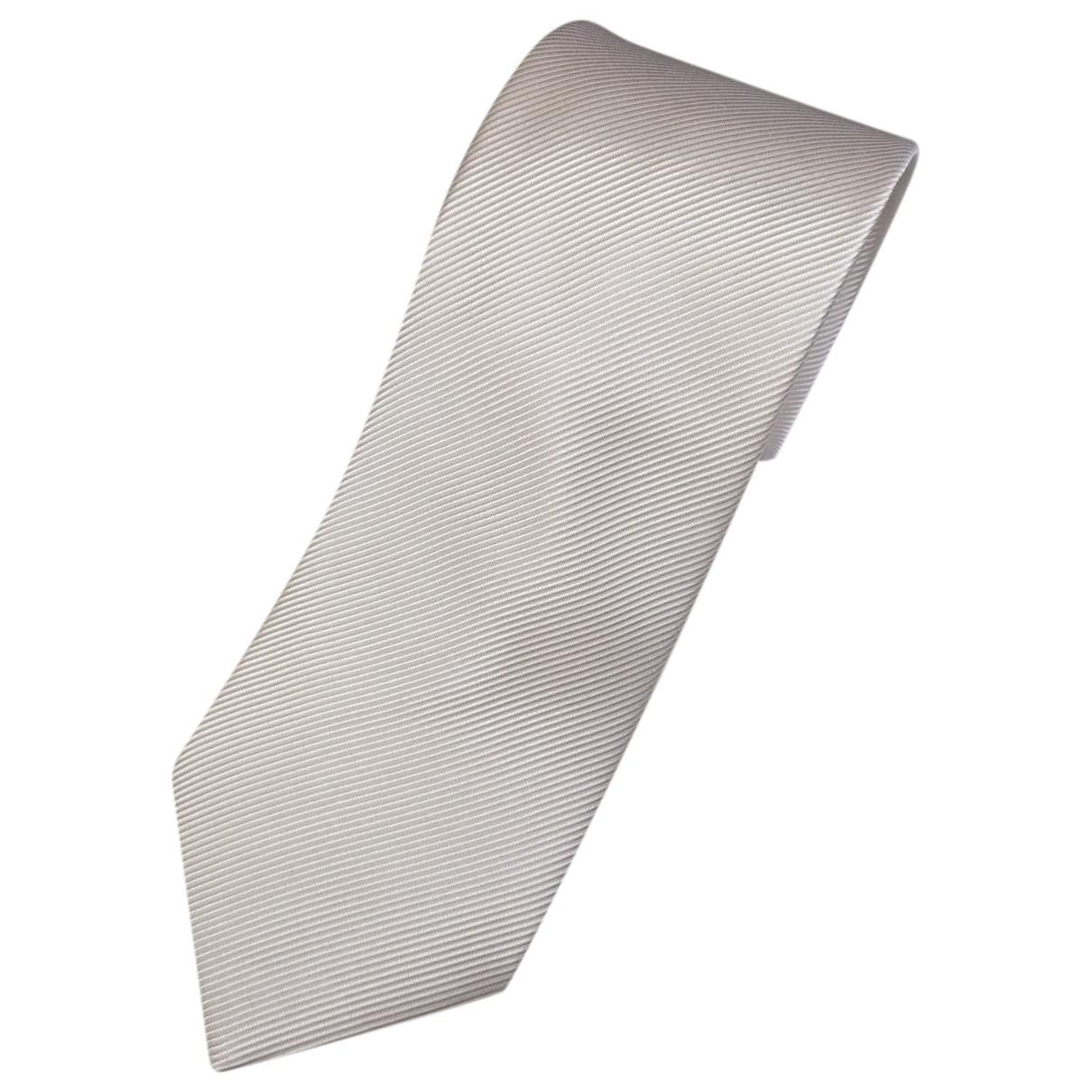 Cerruti \N Krawatten in  Weiss Seide