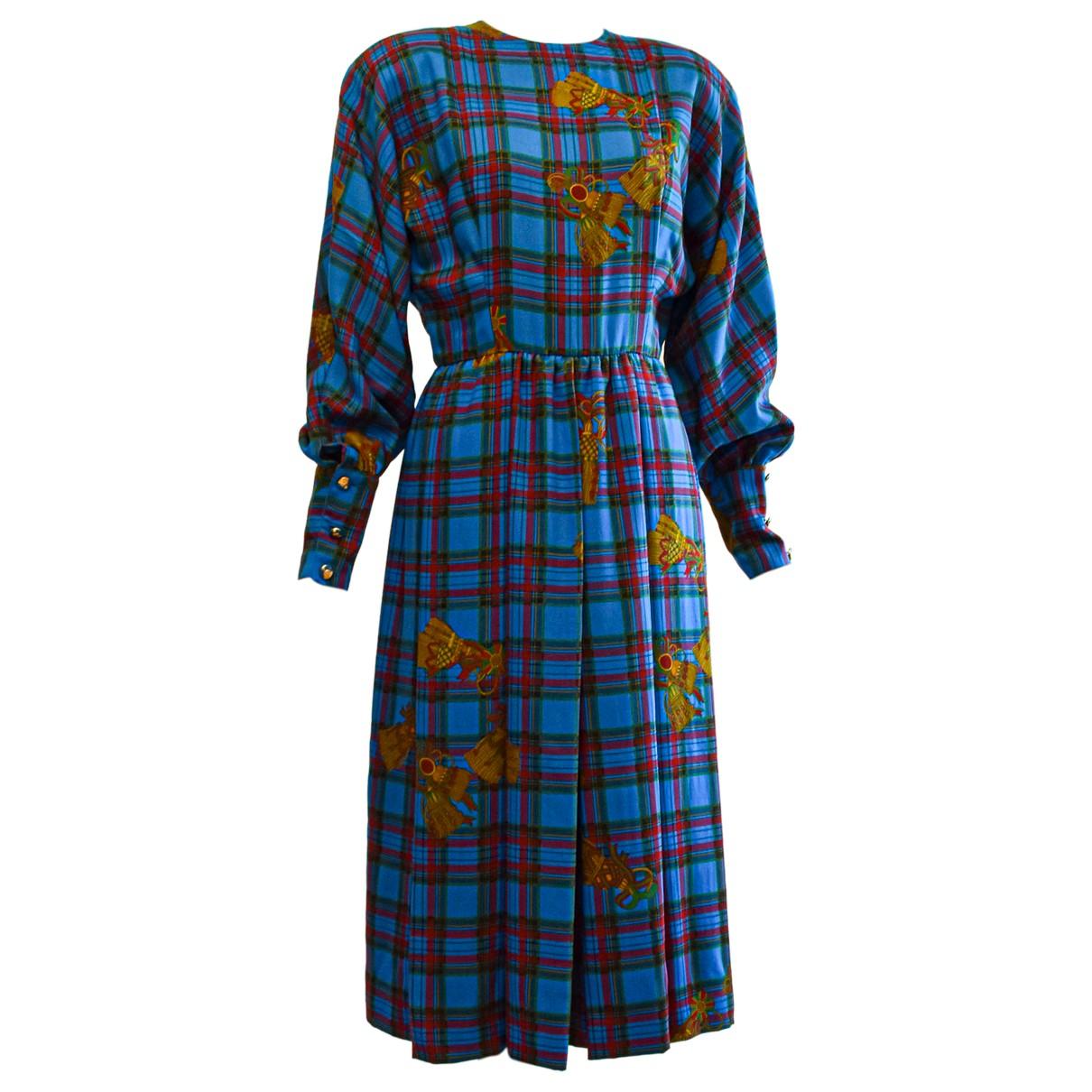 Adele Simpson \N Kleid in  Blau Wolle