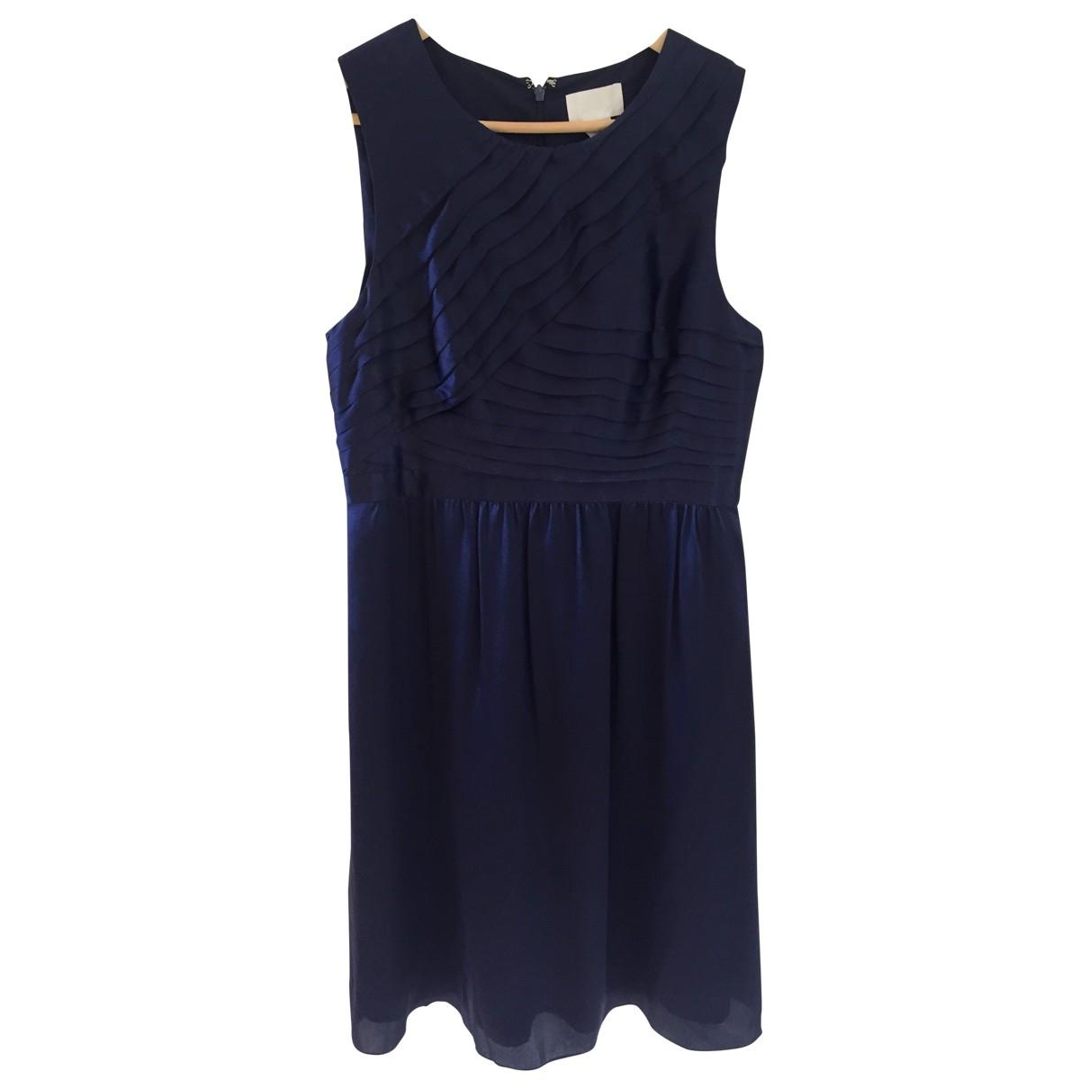 J.crew - Robe   pour femme en soie - marine