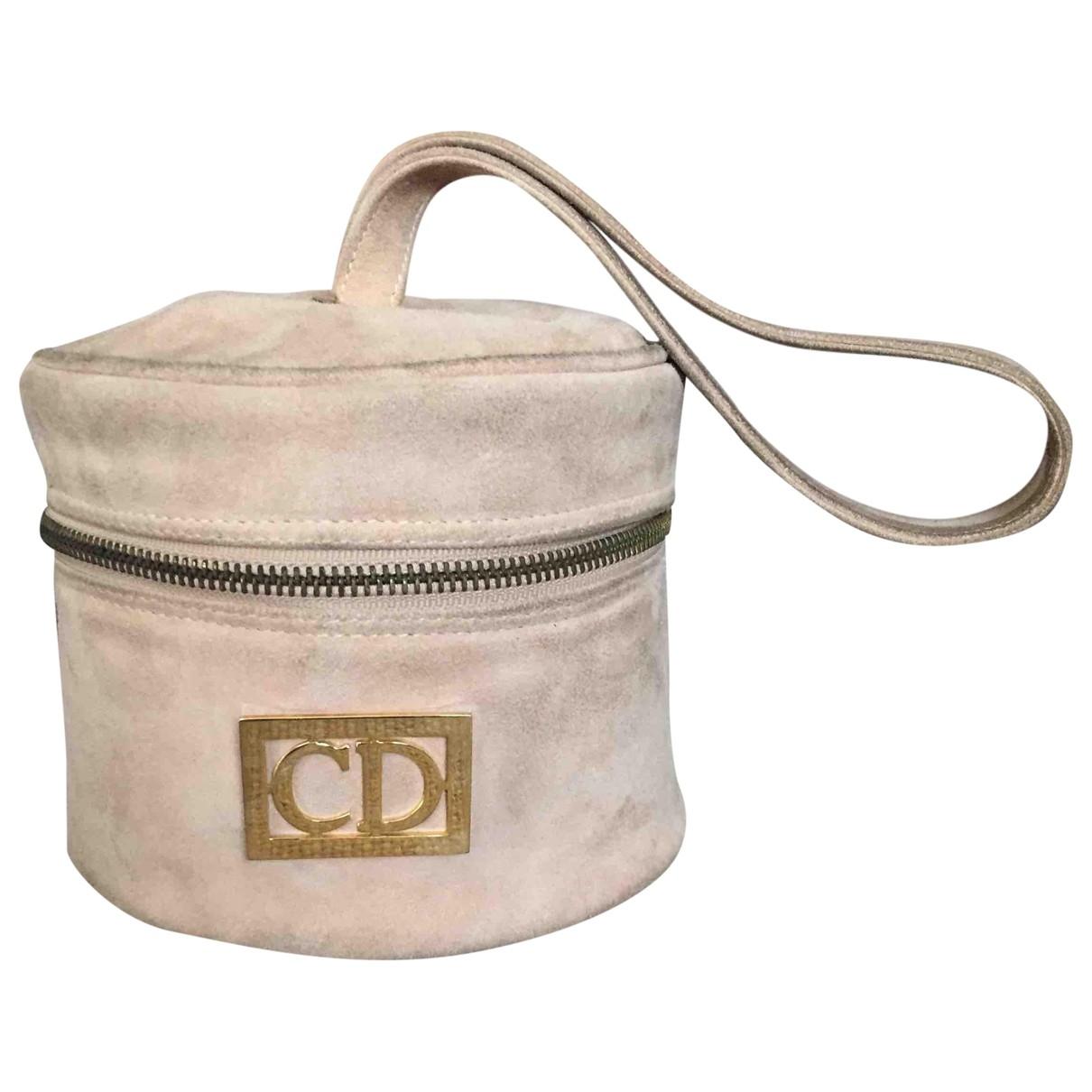 Dior \N Handtasche in  Beige Veloursleder