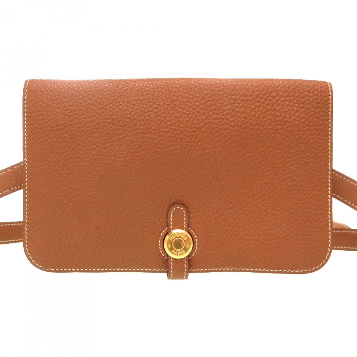 Hermès Dogon Camel Leather Clutch bag for Women \N