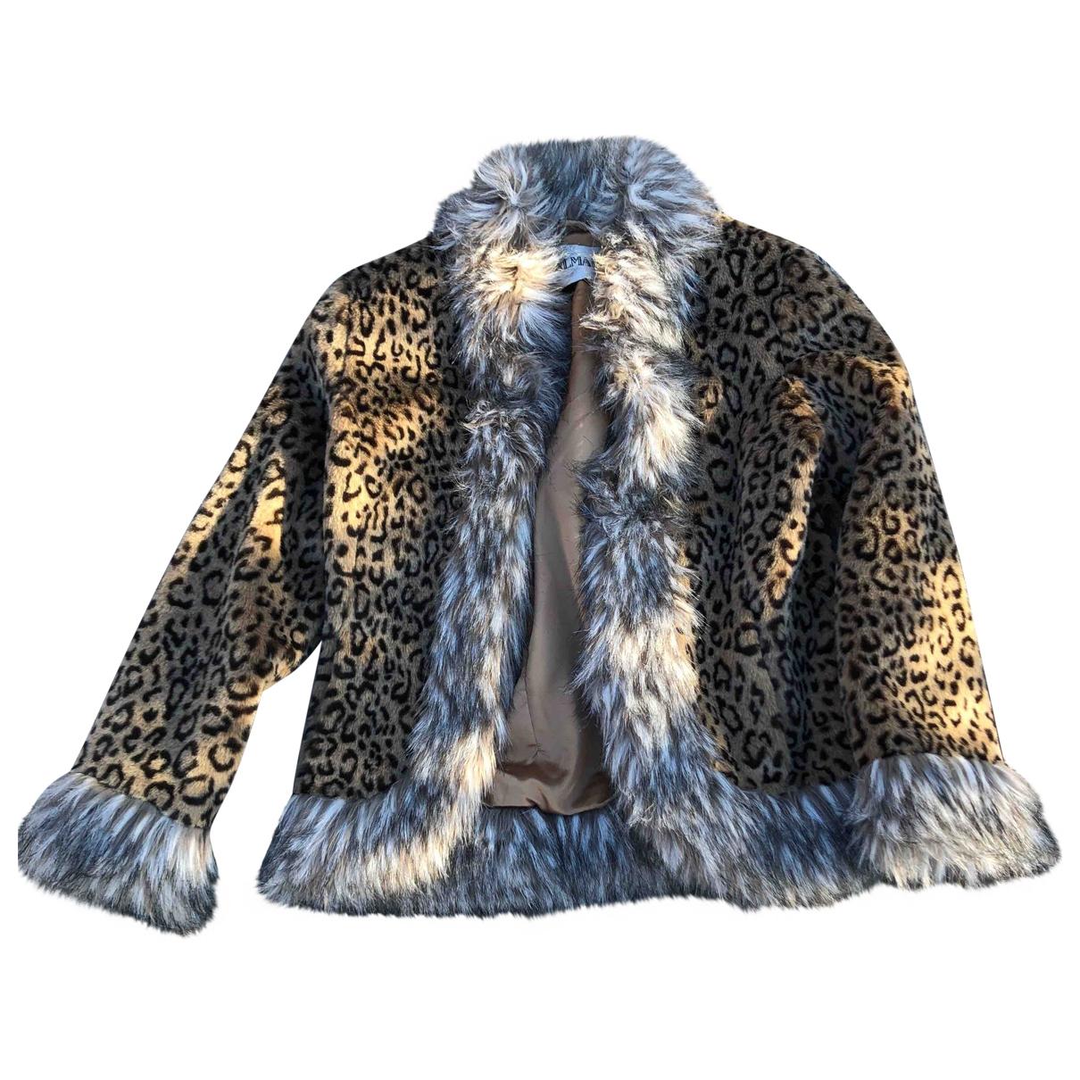 Balmain \N Multicolour Faux fur coat for Women M International