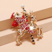 Brosche mit Weihnachtsmann Design