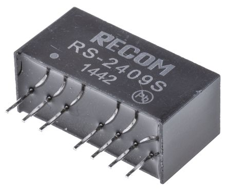Recom RS 2W Isolated DC-DC Converter Through Hole, Voltage in 18 → 36 V dc, Voltage out 9V dc
