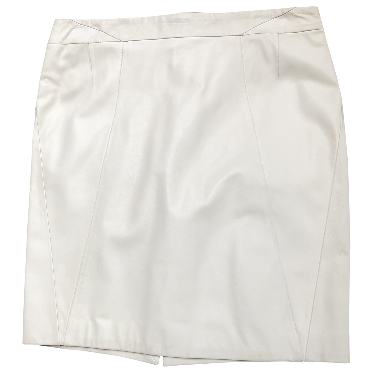 Dior \N Beige Leather skirt for Women 40 FR