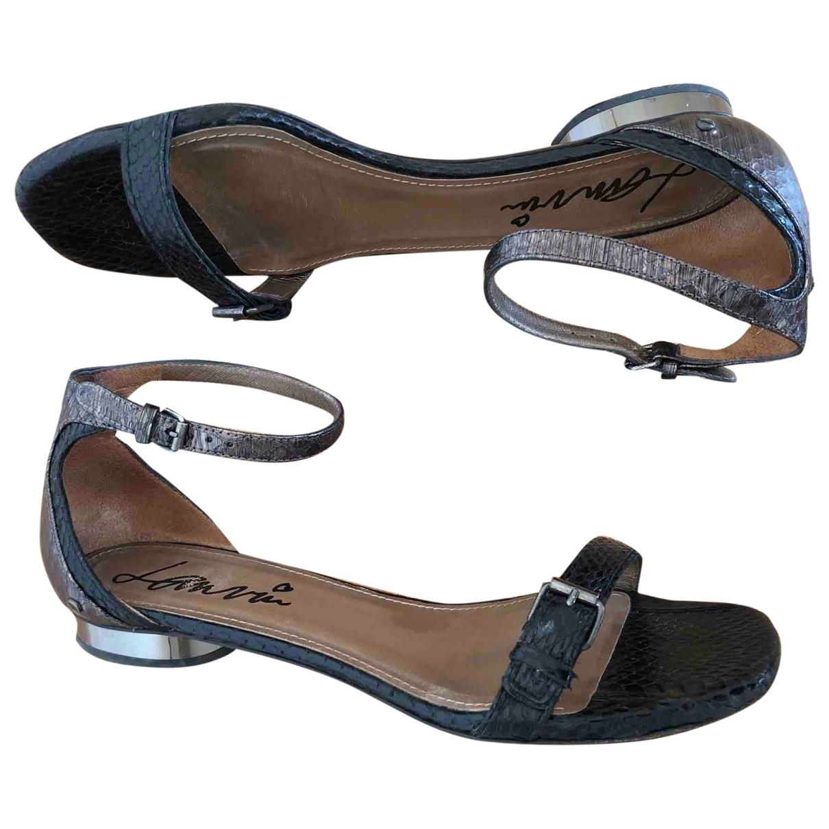 Lanvin - Sandales   pour femme en serpent deau - noir