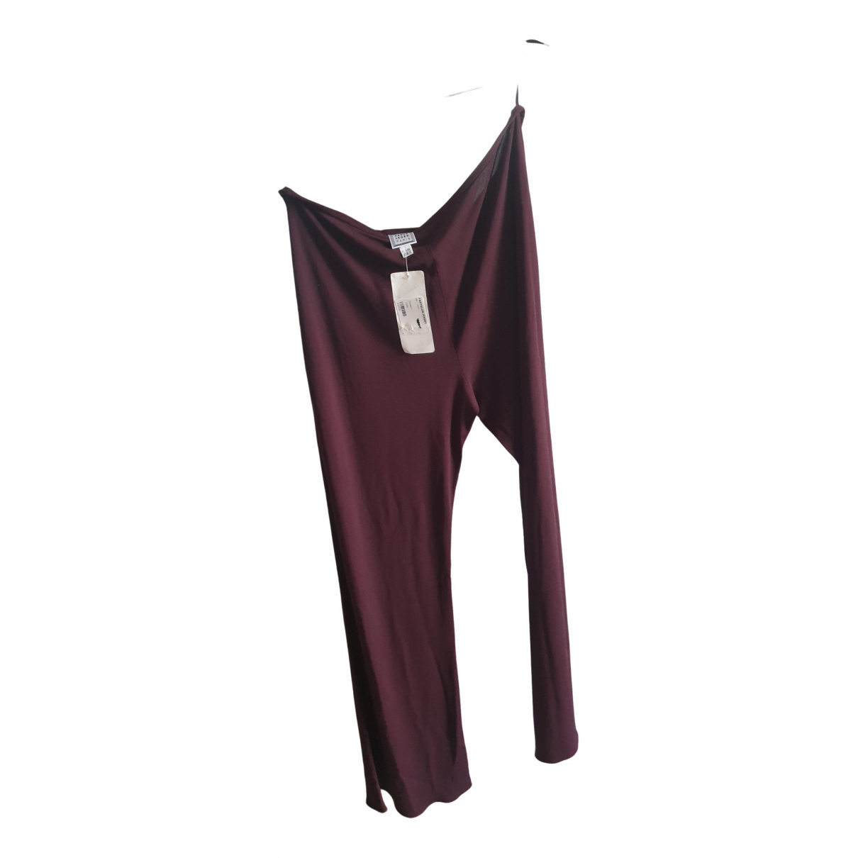 Pantalon en Sintetico Burdeos Non Signe / Unsigned