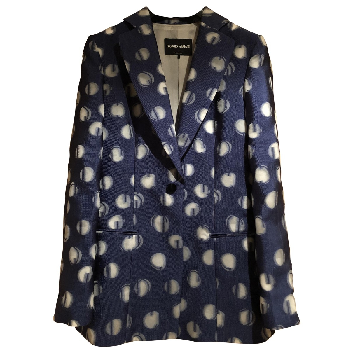 Giorgio Armani - Veste   pour femme en soie - bleu
