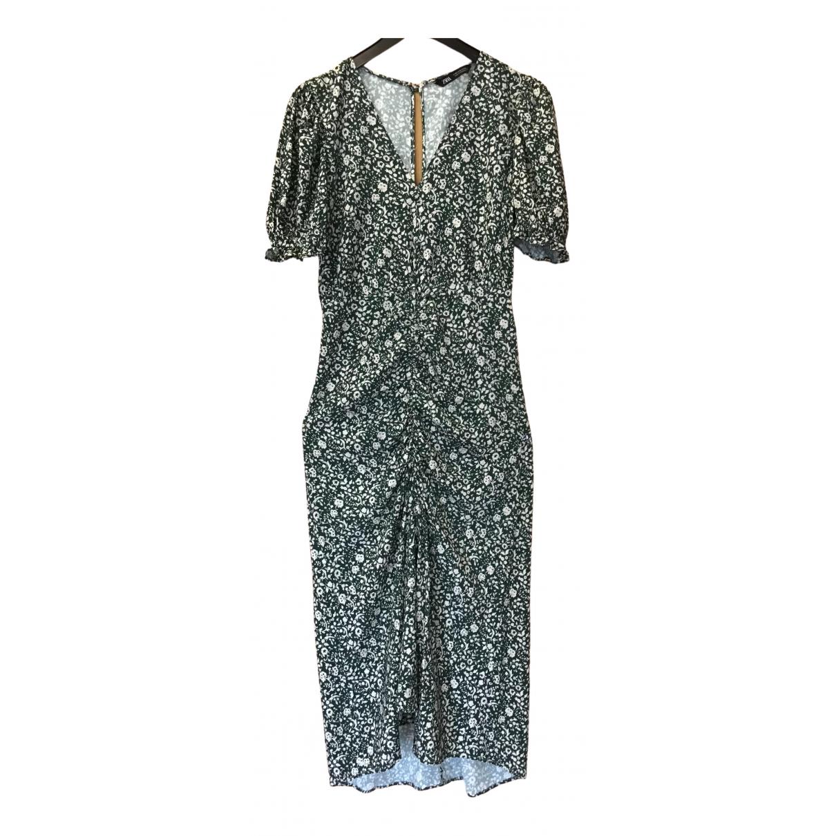 Zara \N Green dress for Women 38 FR