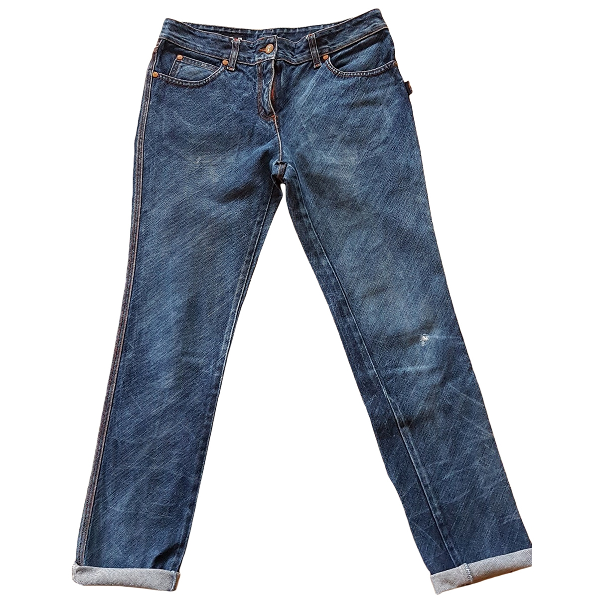 Jean Paul Gaultier \N Blue Cotton Jeans for Men 30 US