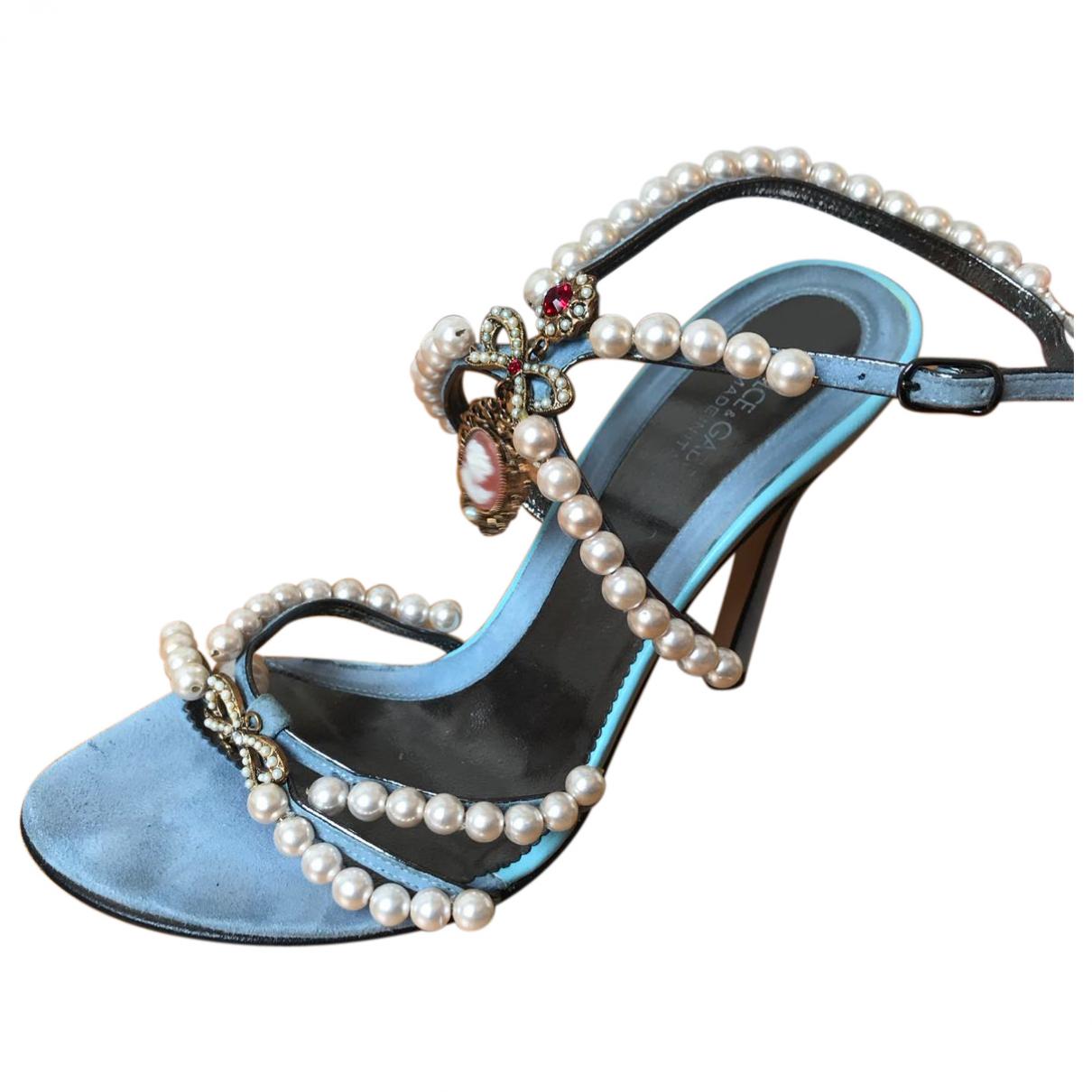 Dolce & Gabbana - Sandales   pour femme en toile - bleu