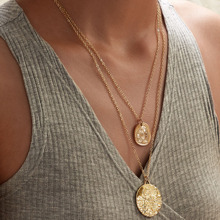 Coin Charm Layered Necklace 1pc