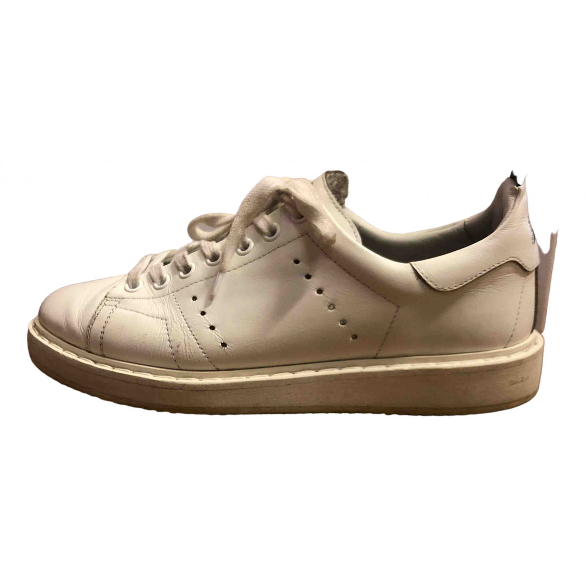 Golden Goose Starter White Leather Trainers for Women 38 EU