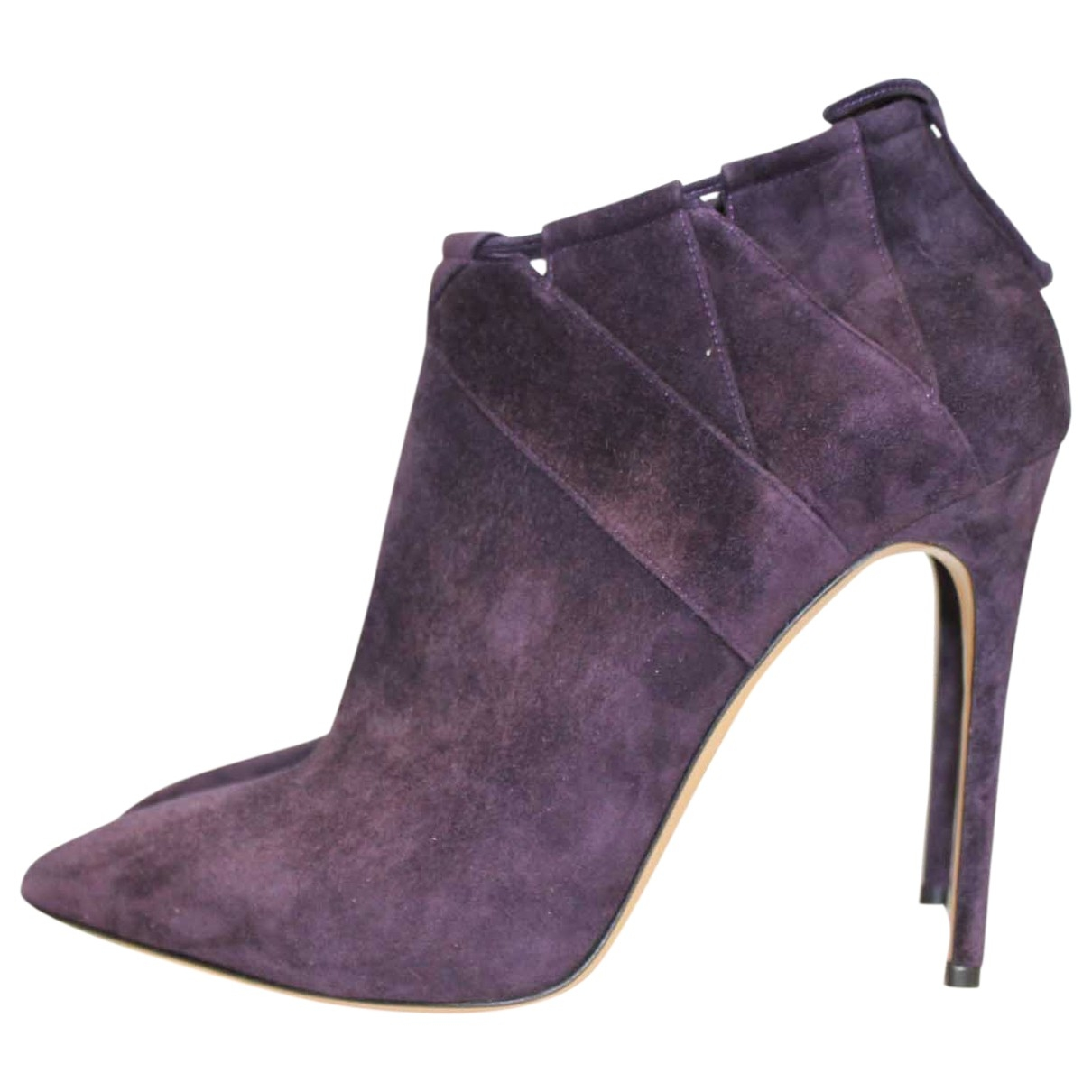 Casadei \N Purple Suede Ankle boots for Women 39 EU
