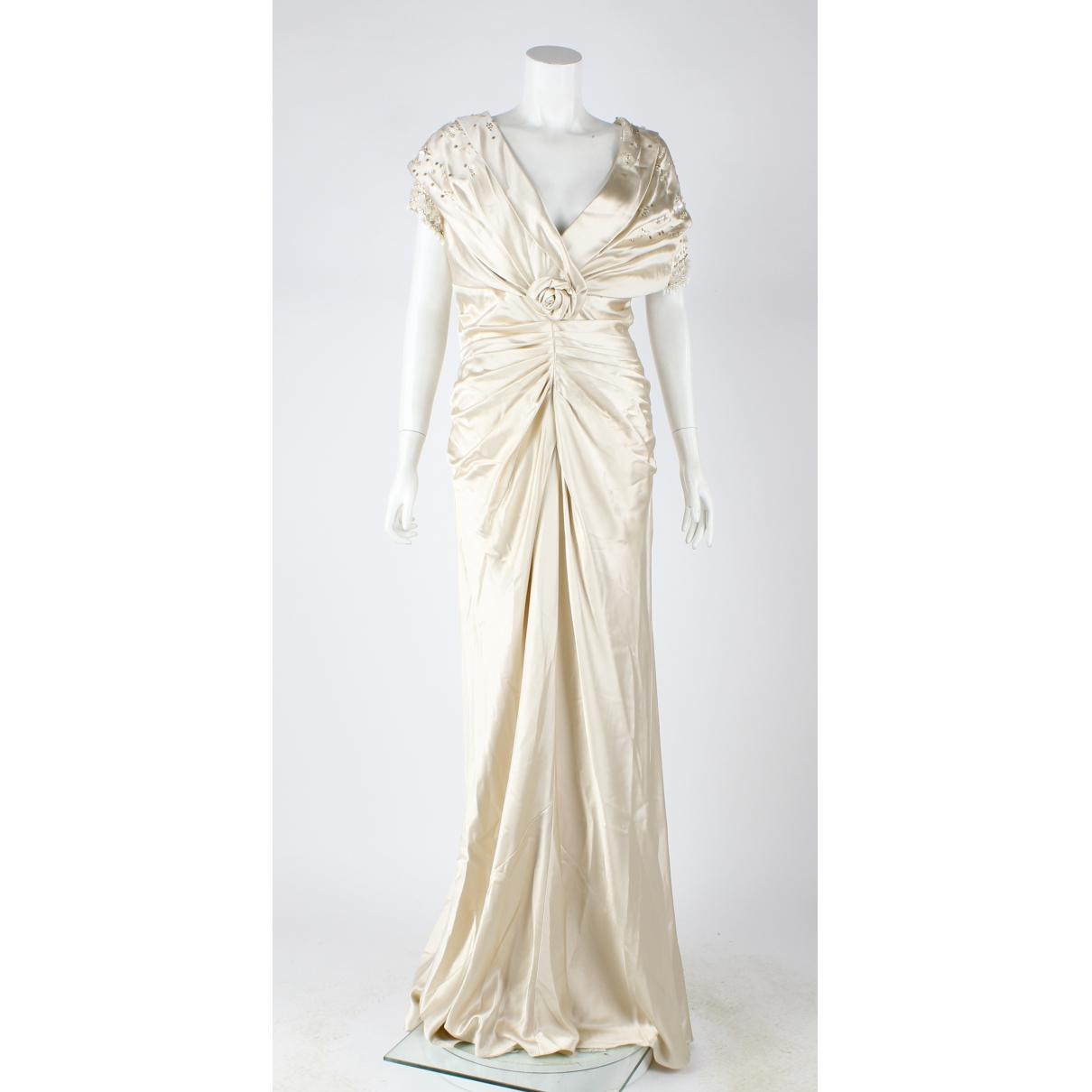 Dior - Robe   pour femme en soie - ecru
