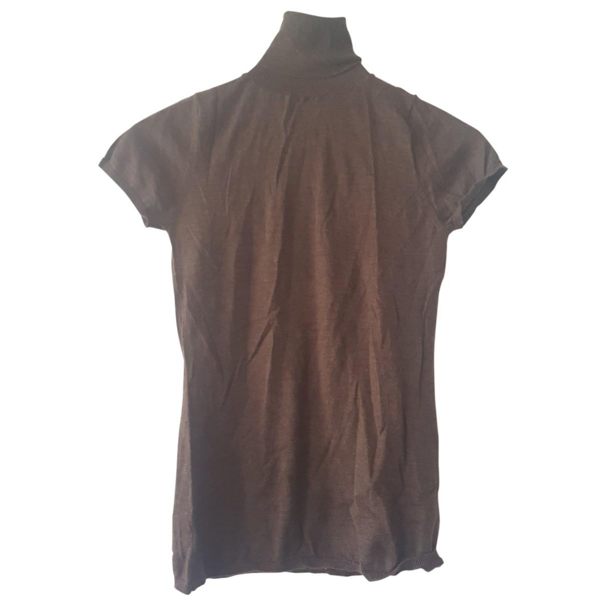 Allude - Top   pour femme en cachemire - marron