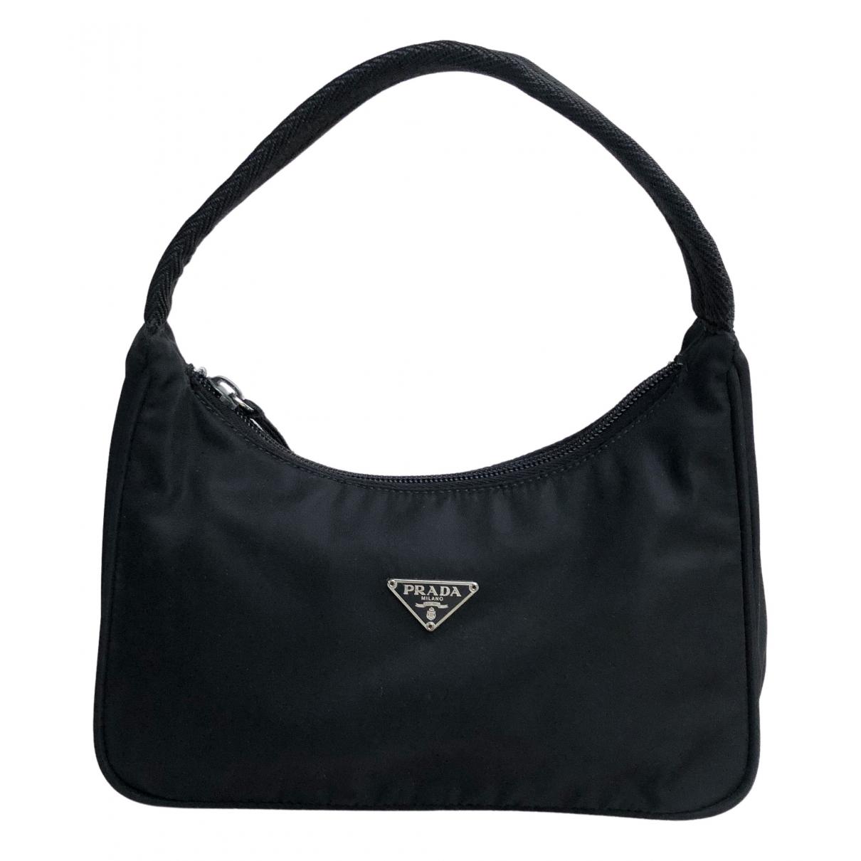 Prada - Sac a main Re-Nylon pour femme en toile - noir