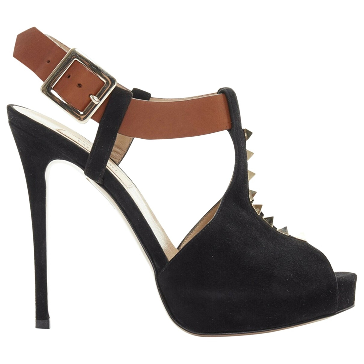 Valentino Garavani \N Black Suede Sandals for Women 39 EU