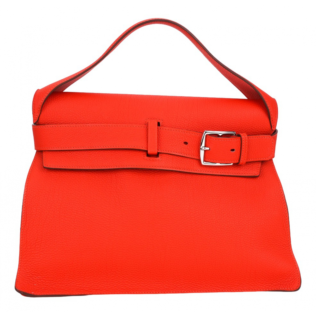 Hermes - Sac a main   pour femme en cuir - orange