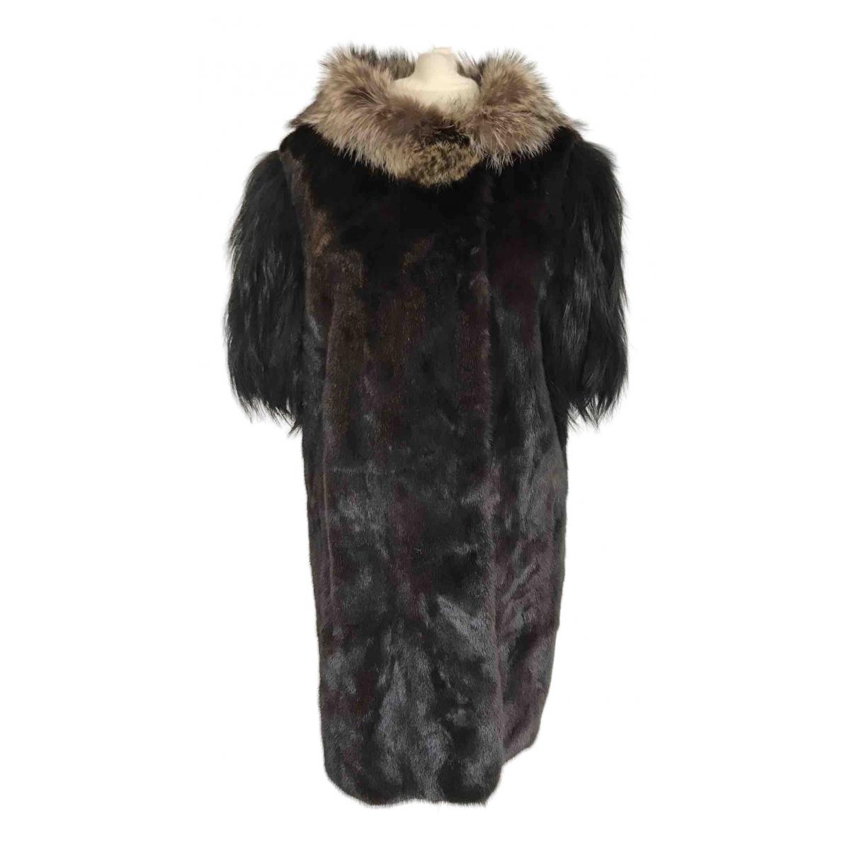 Marni - Manteau   pour femme en vison - noir