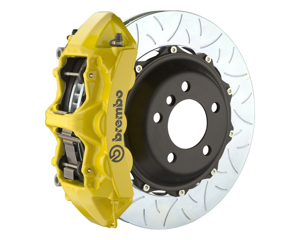 Brembo GT 355x32 2-Piece 6 Piston Yellow Slotted Type-3 Front Big Brake Kit