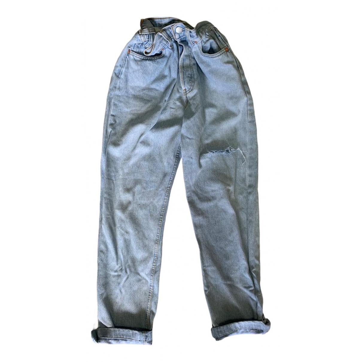 Levi's 501 Blue Cotton Jeans for Women 30 US