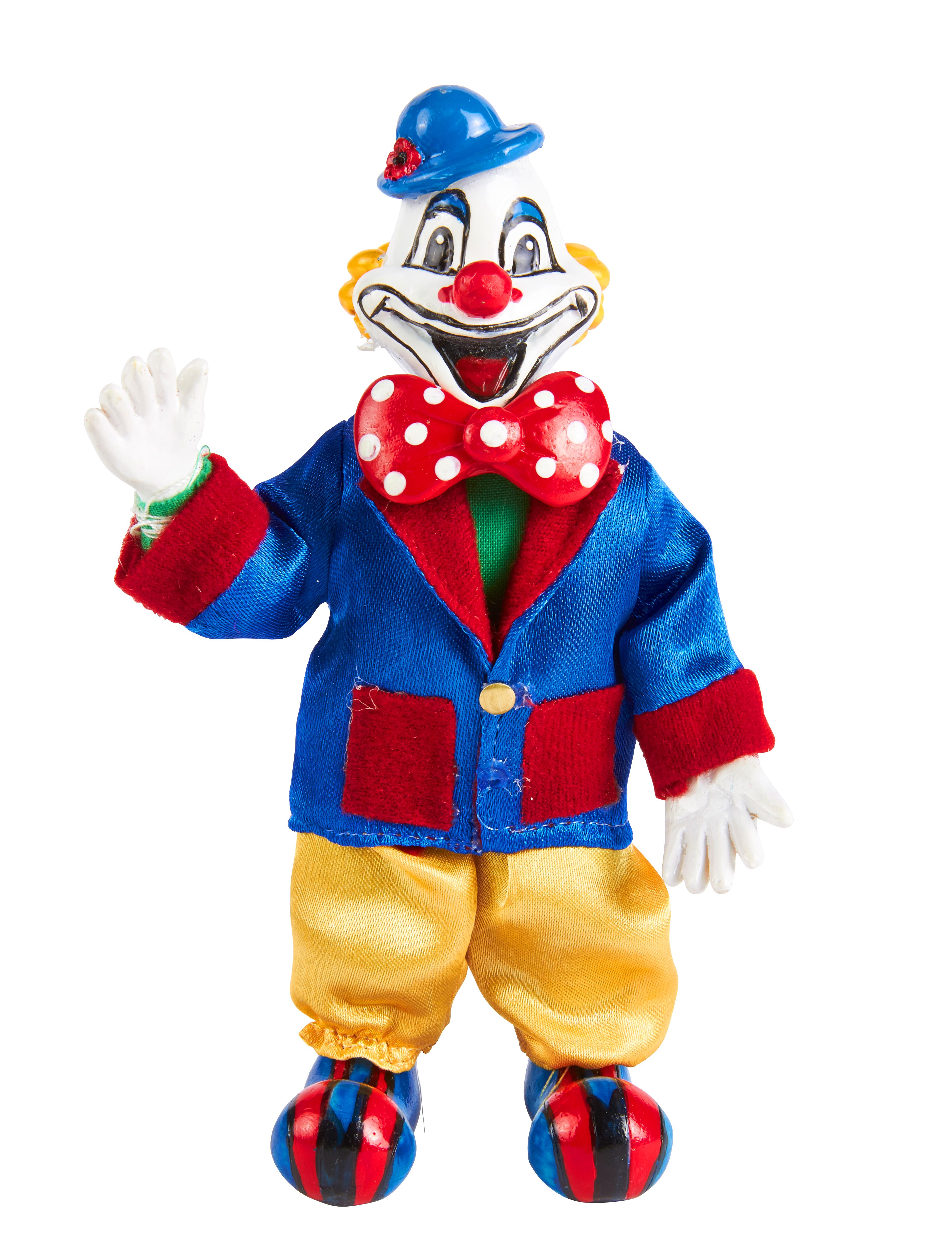 Kostuemzubehor Deiters Clown 10cm Farbe: multicolor bzw. bunt