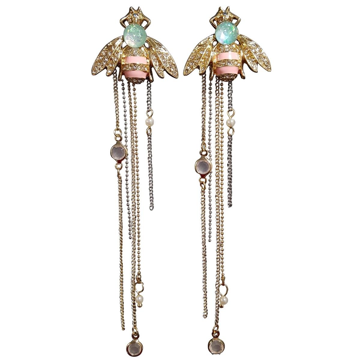 - Boucles d'oreilles Motifs Animaliers pour femme en metal - dore