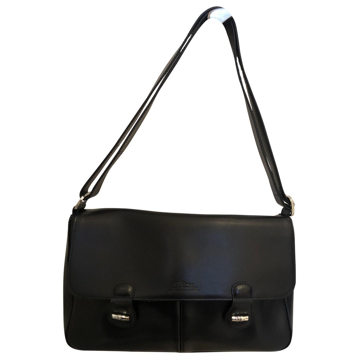 Longchamp Roseau Handtasche in  Marine Leder