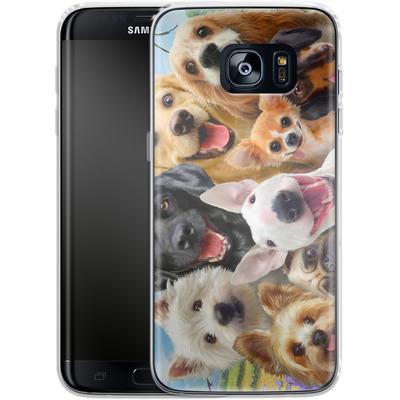 Samsung Galaxy S7 Edge Silikon Handyhuelle - Dogs Selfie von Howard Robinson