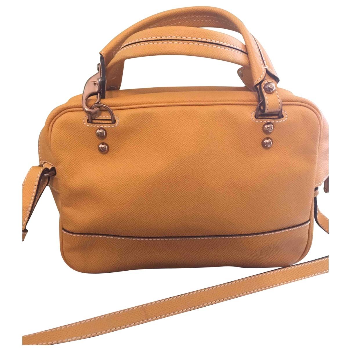 Fay \N Yellow Leather handbag for Women \N